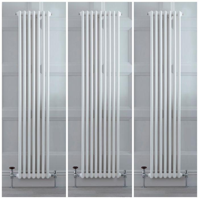 Kolomradiator Verticaal Klassiek 2-Kolommen Wit   Kies de Afmeting   Stelrad Regal van Hudson Reed