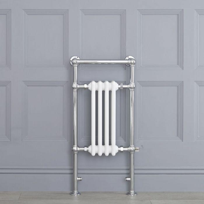Handdoekradiator Elektrisch Klassiek Chroom/Wit 93cm x 45,2cm x 15,5cm   Elizabeth
