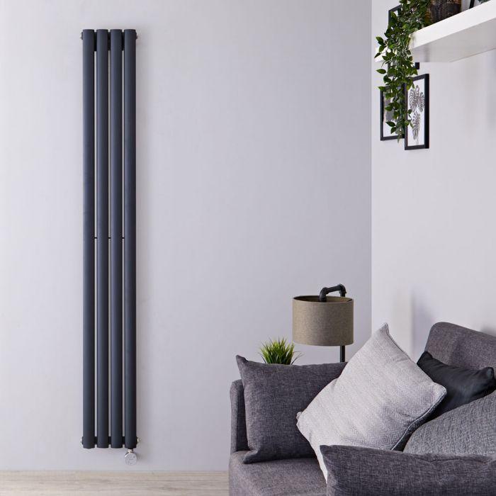 Designradiator Elektrisch Thermostatisch Verticaal Antraciet 178cm x 23,6cm | Revive