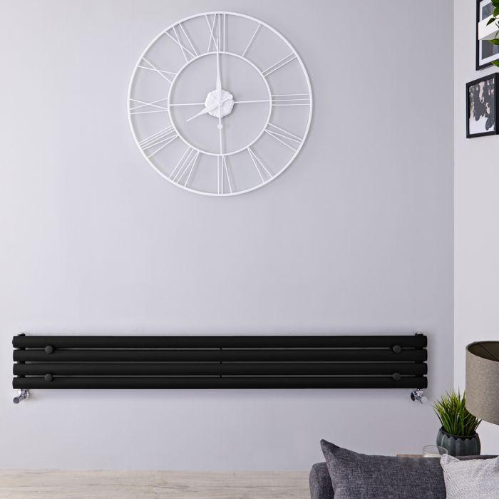 Revive Designradiator Horizontaal Zwart 23,6cm x 178cm x 5,6cm 647 Watt