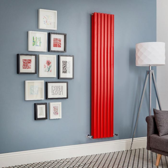 Designradiator Verticaal Rood | Kies de Afmeting | Revive