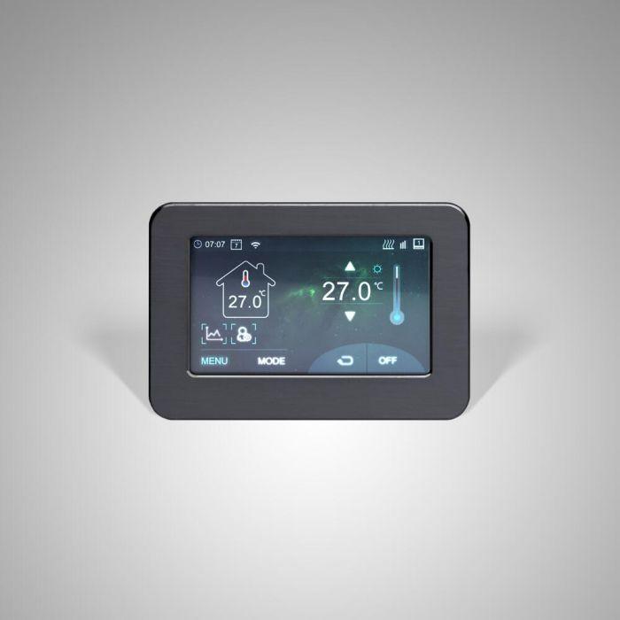 Wi-Fi Touchscreen Thermostaat voor Elektrische Verwarming Wit   Connect