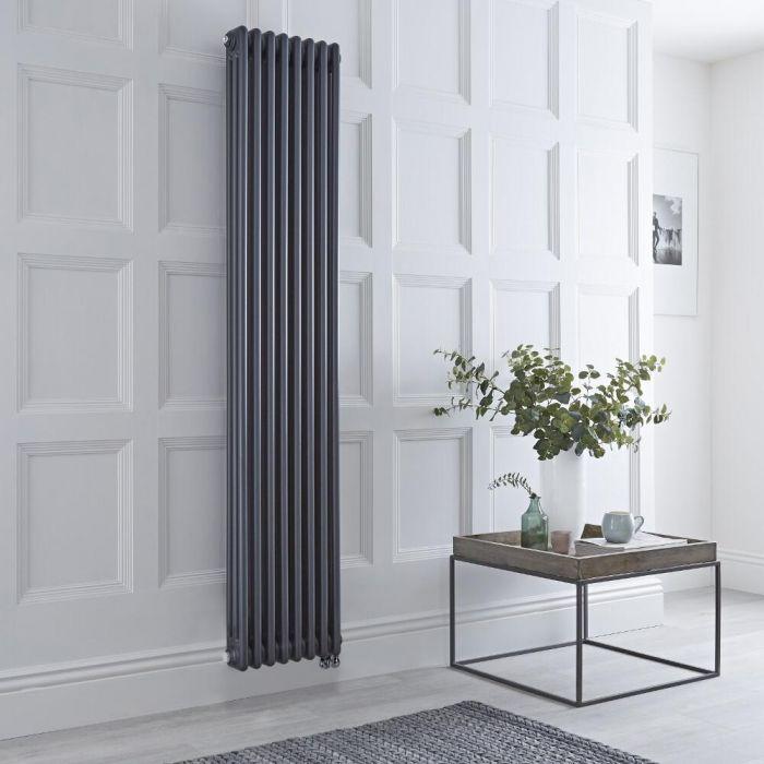 Kolomradiator Elektrisch Verticaal Antraciet 180 x 38cm | Optionele WiFi-Thermostaat | Windsor