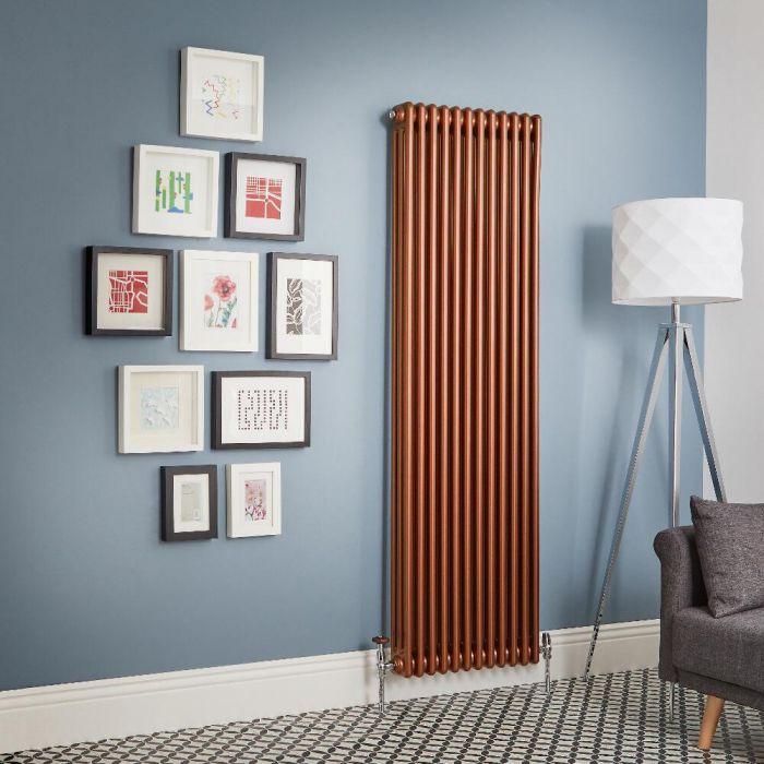 Kolomradiator Verticaal Koper Metallic | Kies de Afmeting | Windsor