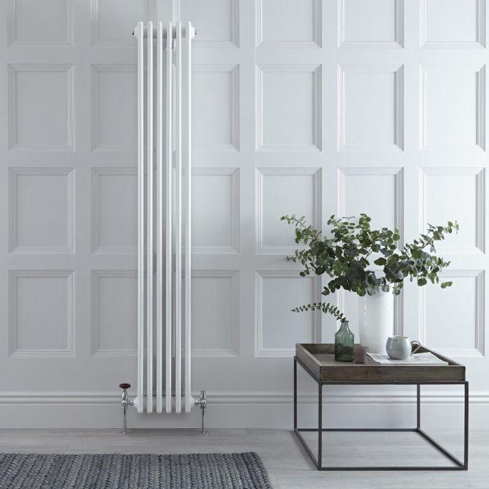 Designradiator Verticaal Klassiek Wit 180cm x 27cm x 13,3cm 1615 Watt - Windsor