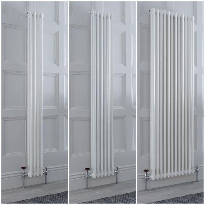 Kolomradiator Verticaal 2-Kolommen Klassiek Wit   Keuze Afmetingen en Poten   Windsor