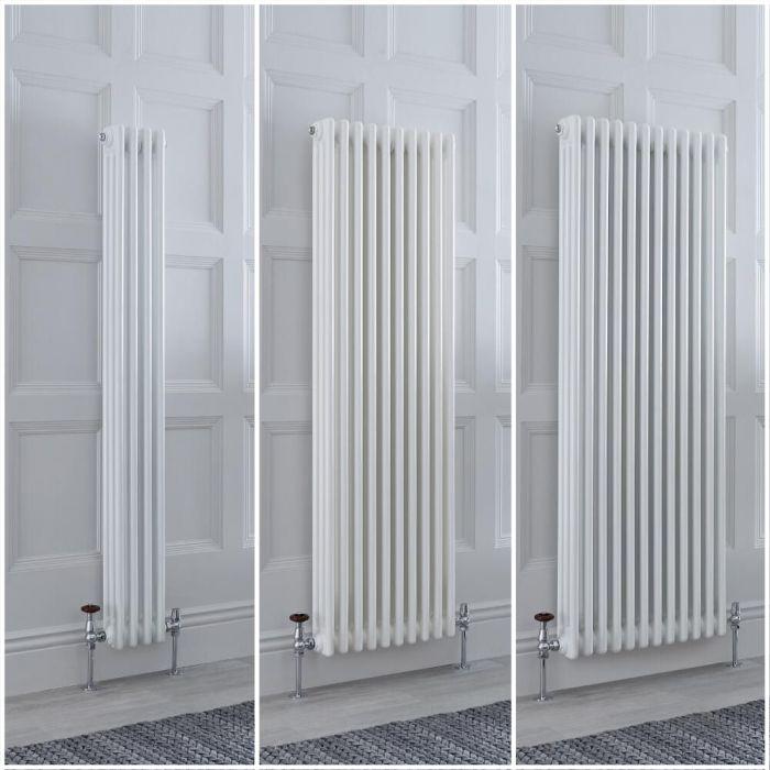 Kolomradiator Verticaal 3-Kolommen Klassiek Wit | Keuze van Afmetingen en Poten | Windsor