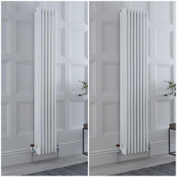 Kolomradiator Verticaal 4-Kolommen Klassiek Wit | Keuze van Afmetingen en Poten | Windsor