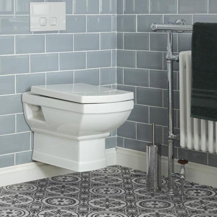 Chester Klassiek Hangend Toilet Incl. Muurframe en Keuze Spoelknop