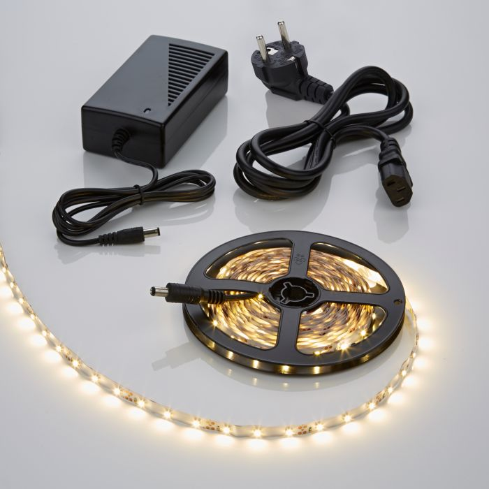 IP20 3528 Led Strip Verlichting Incl Driver & Kabel - 5 Meter - Warm Wit