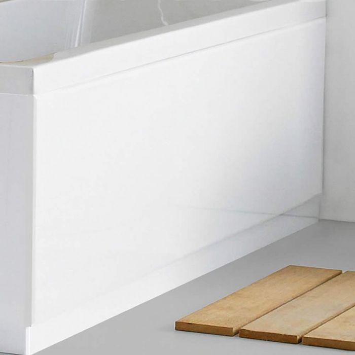 1 x Voorpaneel inclusief badplint - 170cm x 55cm - Wit