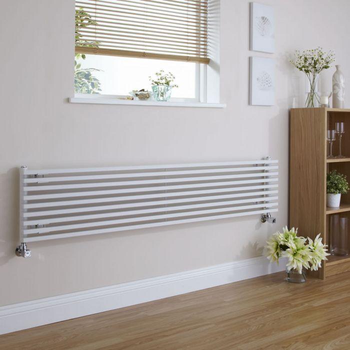 Parallel Designradiator Horizontaal Wit 34,2cm x 178cm x 8,4cm 1227 Watt