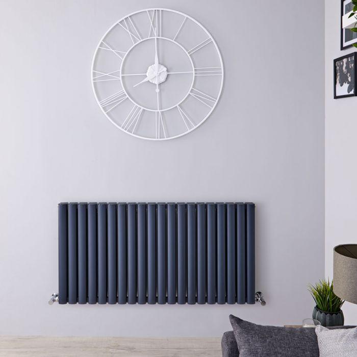 Revive Air Horizontale Aluminium Dubbelpaneel Designradiator Antraciet 60cm x 119cm x 7,6cm 2298Watt