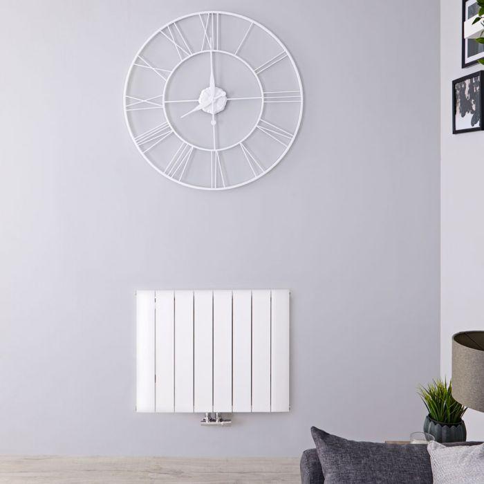 Designradiator Horizontaal Aluminium Middenaansluiting Wit 60cm x 75,5cm 1024 Watt | Aurora