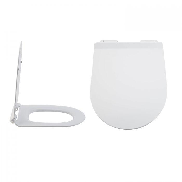 Overton Duroplast Zachtsluitende Toiletbril Easy Fix &  Bovenaansluiting