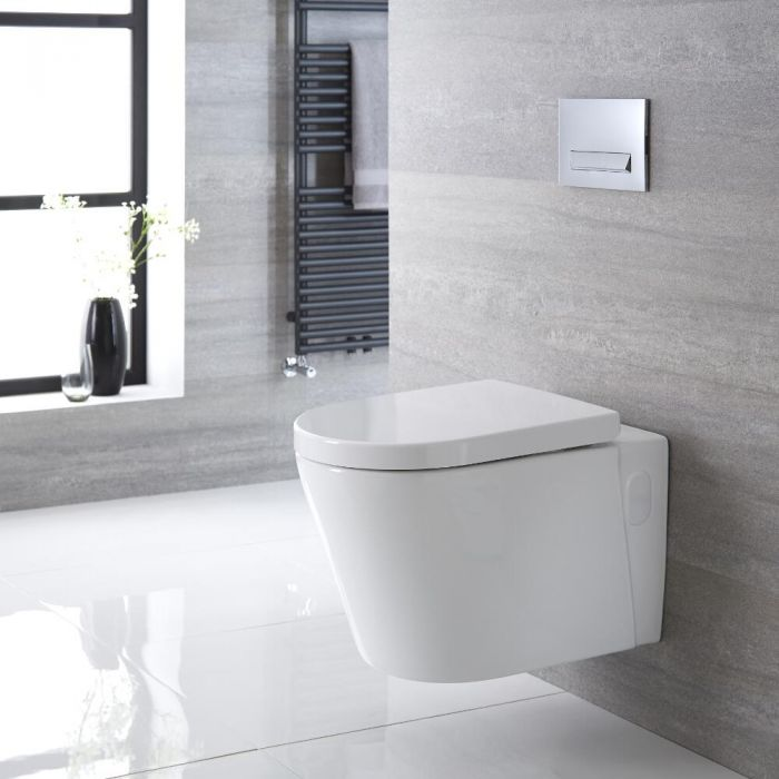 Exton Hangend Keramiek Toilet incl WC Bril Ovaal Wit