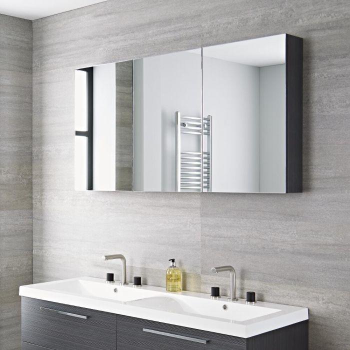 Spiegelkast 135 x 15 x 70cm - Grijs