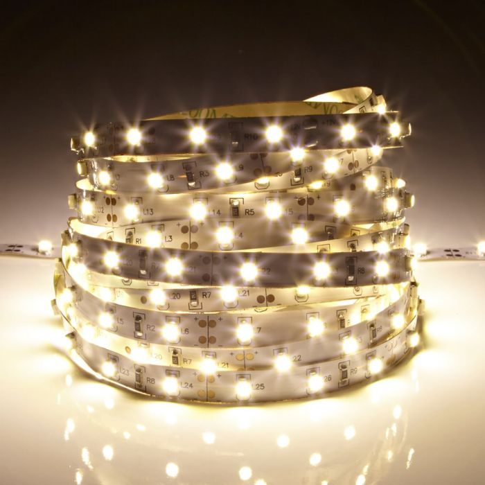 IP20 Led 3528 Strip Verlichting - 5 Meter - Warm Wit - Binnenverlichting