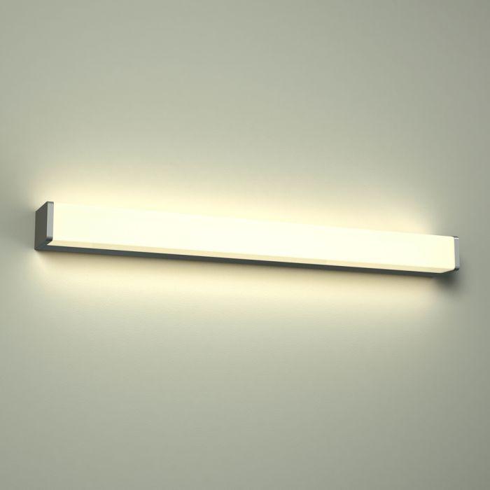 Omedeo LED Badkamer Wandlamp Vierkant 60 x 7 x 4.5 cm 12W Chroom LED IP44