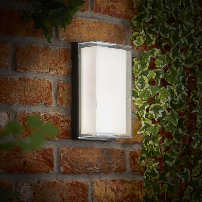 Asti 10W LED Wandlamp Buiten IP65 - Verkrijgbaarin Antraciet en Zwart