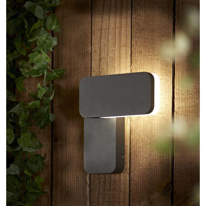 Someo 10W LED Wandlamp Buiten Vierkant  IP65 - Verkrijgbaar in Antraciet & Zwart