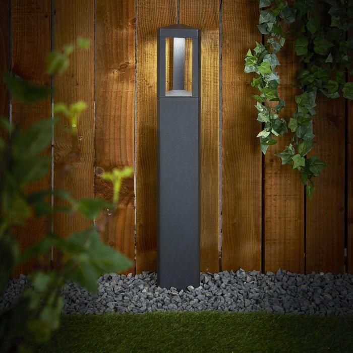 Broholm 8W LED Sokkellamp IP65 65cm - Verkijgbaar in Antraciet en Zwart