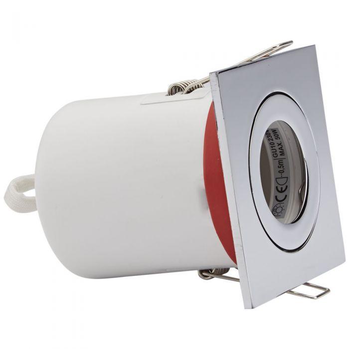 IP20 GU10 Inbouwspot Kantelbaar Excl Lamp Keus Uit 3 x Omlijstingen Vierkant