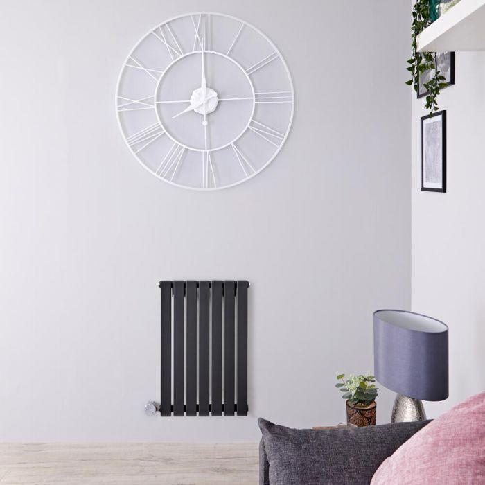 Designradiator Elektrisch met Thermostaat Horizontaal Antraciet 63,5cm x 42cm | Sloane