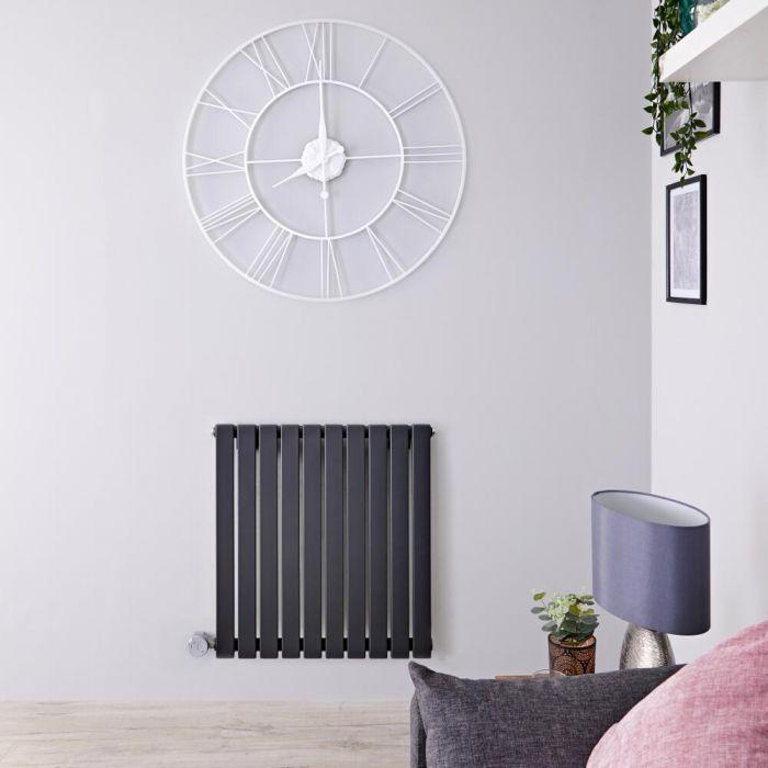 Designradiator Elektrisch met Thermostaat Horizontaal Antraciet 63,5cm x 60cm | Sloane