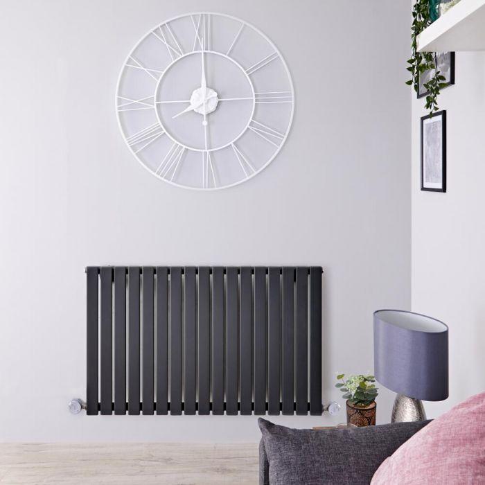 Designradiator Elektrisch met Thermostaat Horizontaal Antraciet 63,5cm x 100cm | Sloane
