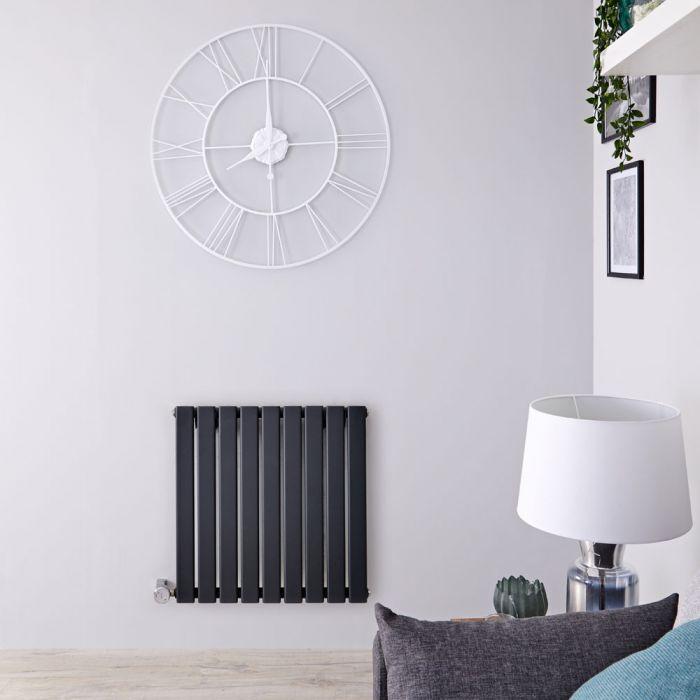 Designradiator Elektrisch met Thermostaat Horizontaal Antraciet 63,5cm x 63cm | Delta