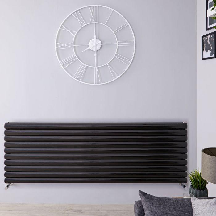 Revive Designradiator Horizontaal Zwart 59cm x 160cm x 7,8cm 1881 Watt