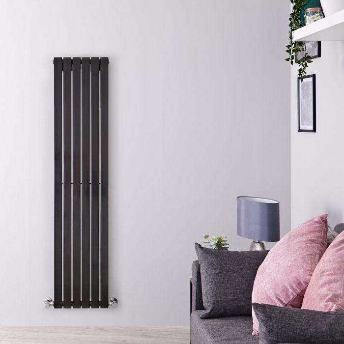 Sloane Designradiator Verticaal Zwart Hoogglans 160cm x 35,4cm x 5,4cm 862 Watt