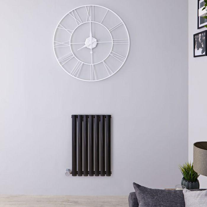 Designradiator Elektrisch met Thermostaat Horizontaal Zwart 63,5cm x 41,5cm | Revive