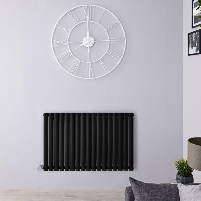 Designradiator  Elektrisch Thermostatisch Horizontaal Zwart 63,5cm x 100cm   Revive