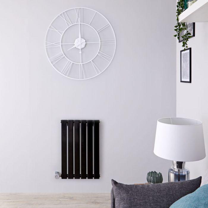 Designradiator Elektrisch met Thermostaat Horizontaal Zwart 63,5cm x 100cm | Delta