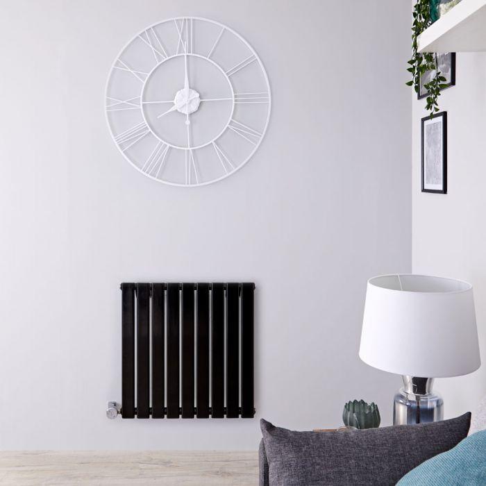 Designradiator Elektrisch Thermostatisch Horizontaal Zwart 63,5cm x 160cm | Delta