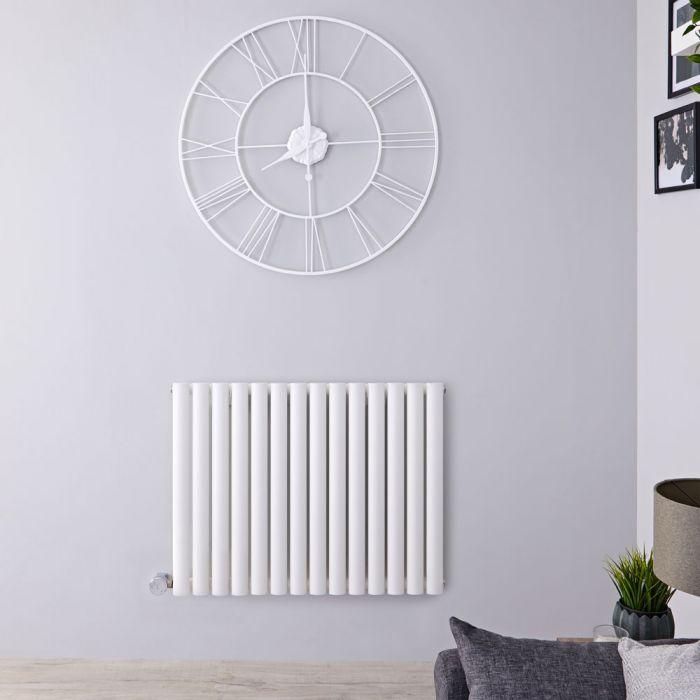 Designradiator Elektrisch met Thermostaat Horizontaal Wit 63,5cm x 83,4cm|Revive