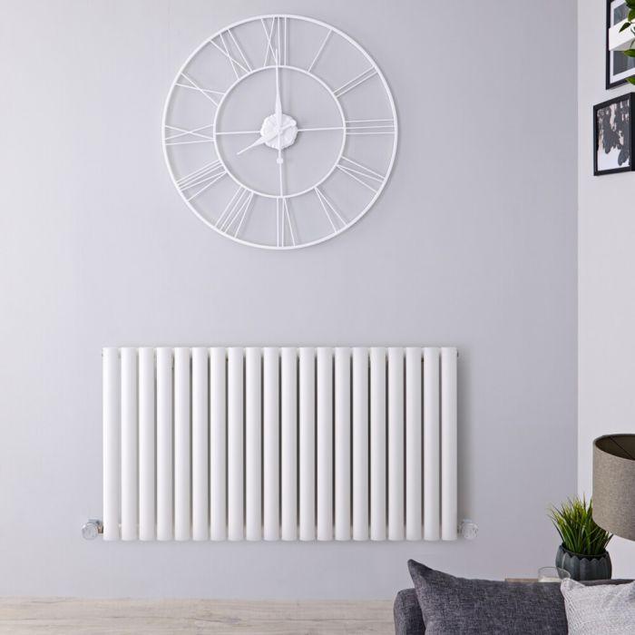 Designradiator Elektrisch met Thermostaat Horizontaal Wit 63,5cm x 118cm | Revive