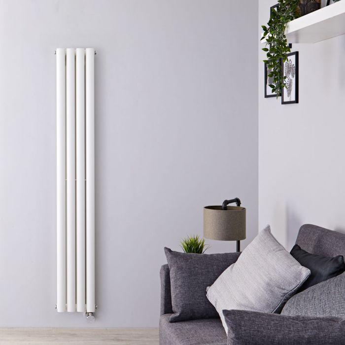 Designradiator Elektrisch Thermostatisch Verticaal Dubbelpaneel Wit 160cm x 23,6cm | Revive