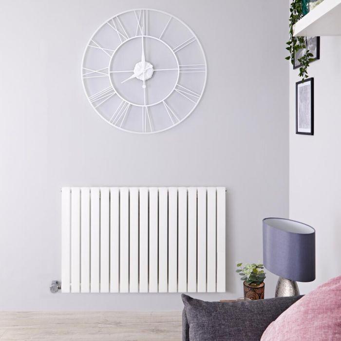 Designradiator Elektrisch met Thermostaat Horizontaal Wit 63,5cm x 100cm | Sloane