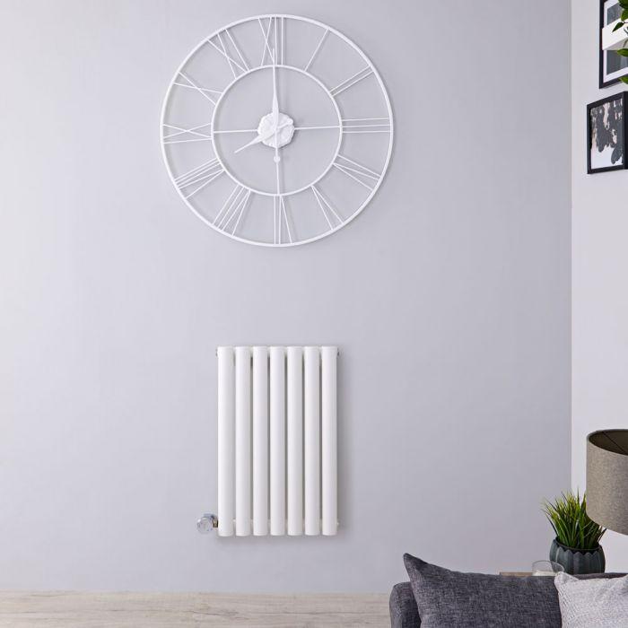 Designradiator Elektrisch met Thermostaat Horizontaal Wit 63,5cm x 41,5cm | Revive