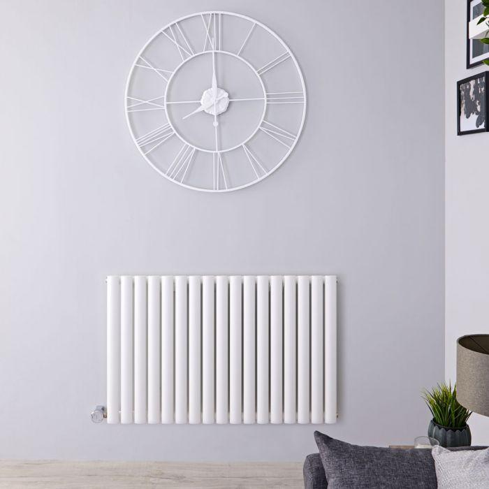 Designradiator Elektrisch met Thermostaate Horizontaal Wit 63,5cm x 100cm | Revive