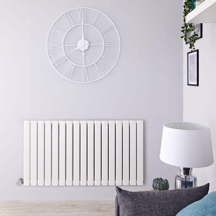 Designradiator Elektrisch met Thermostaat Horizontaal Wit 63,5cm x 119cm | Delta