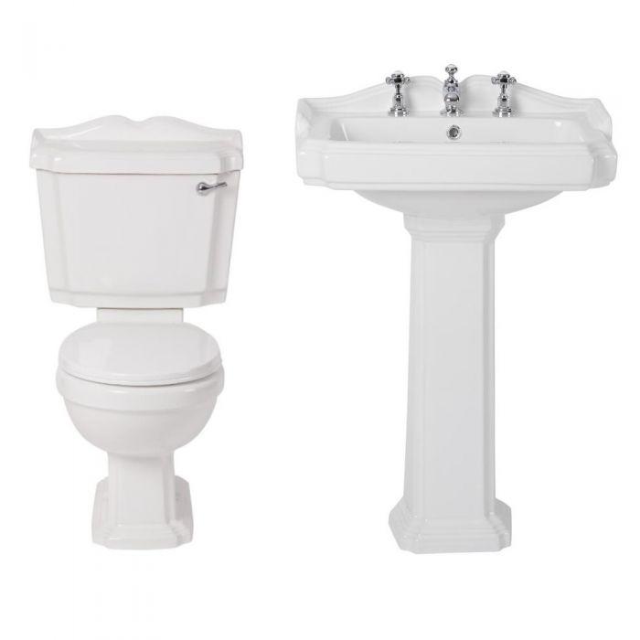 Oxford Klassiek Toilet en Wastafel 3 Kraangaten
