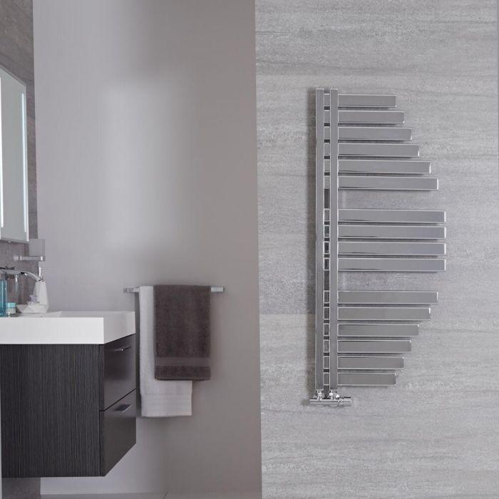 Lazio Designer Handdoekradiator Chroom 110cm x 48,3cm 507Watt