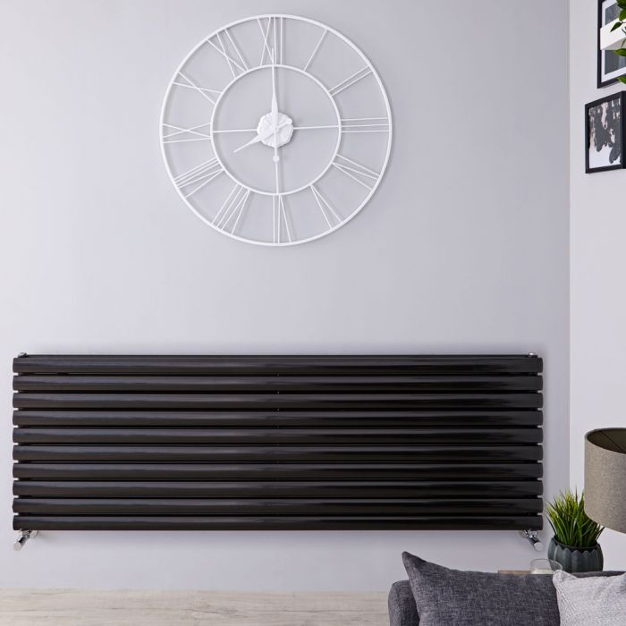 Revive Designradiator Horizontaal Zwart 59cm x 178cm x 7,8cm 2066 Watt