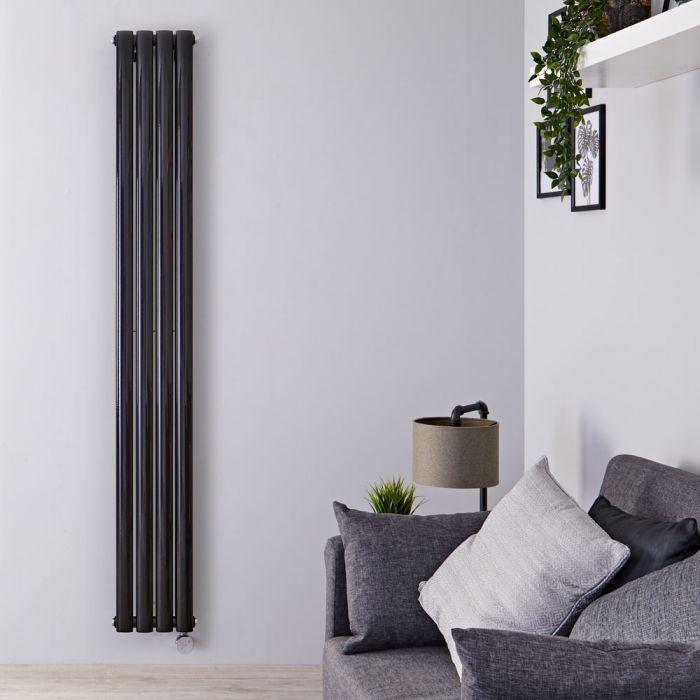 Revive Designradiator Elektrisch Verticaal Zwart 178cm x 23,6cm x 7,8cm