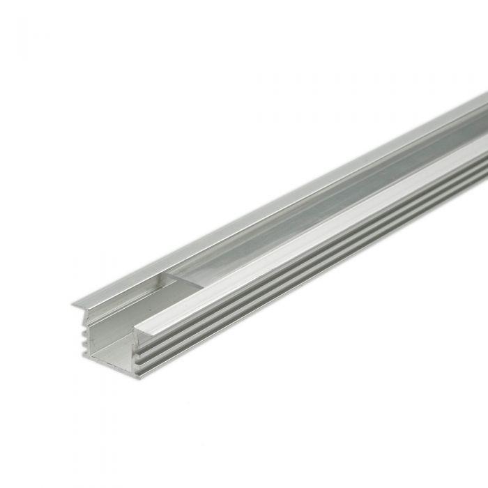 5 x 1 Meter Aluminium Inbouw Profiel Voor Led Stripverlichting - Doorzichtig Of Matt