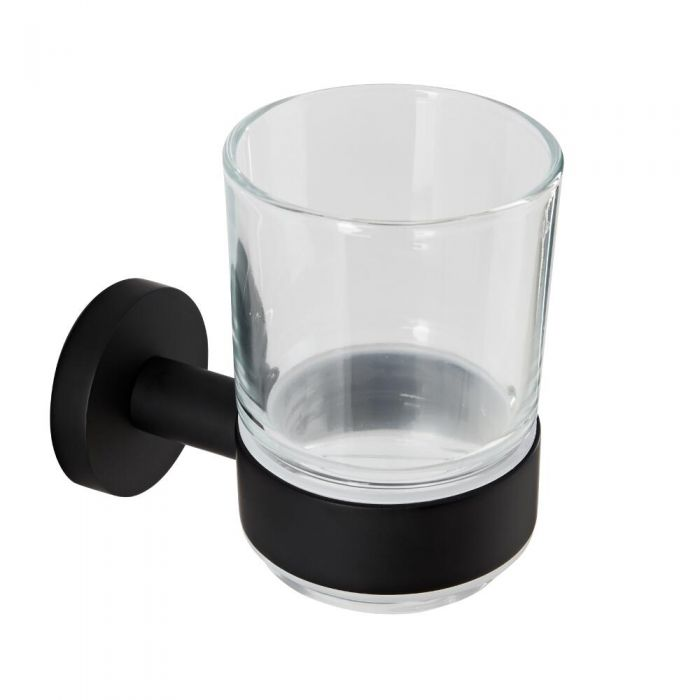 Bekerhouder Incl Glas Mat Zwart   Nox